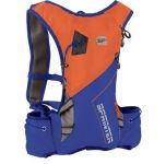 Spokey SPRINTER Sportovní, cyklistický a běžecký batoh 5 l, oranžovo/modrý, voděodolný
