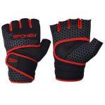 Spokey LAVA Neoprenové fitness rukavice, černo-červené, vel.. XS/S - M
