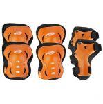 Spokey HASBRO ARMOR - 3-dílná sada dětských chráničů, oranžová, vel. S